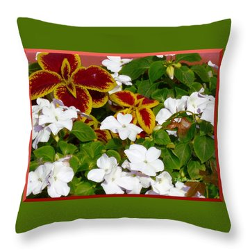 Spring Annuals Throw Pillow