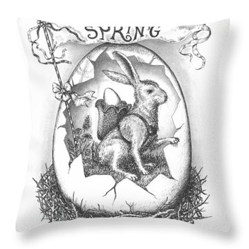 Spring Arrives Throw Pillow by Adam Zebediah Joseph