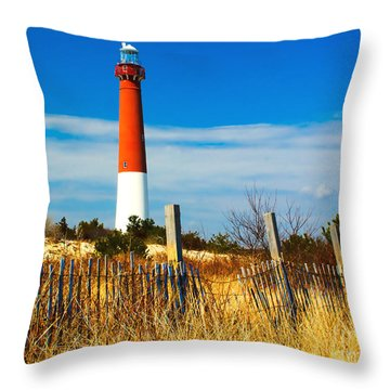 Spring At Barnegat Throw Pillow by Nick Zelinsky