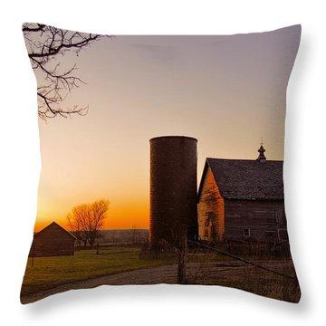 Spring At Birch Barn 2 Throw Pillow