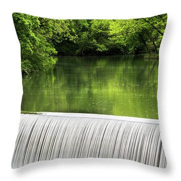 Throw Pillow featuring the photograph Spring At Buck Creek by Parker Cunningham