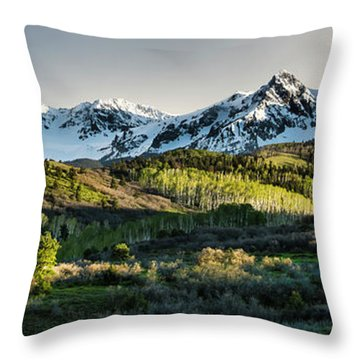 Throw Pillow featuring the photograph Spring At Dallas Divide  by The Forests Edge Photography - Diane Sandoval