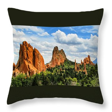 Spring At Garden Of The Gods Throw Pillow