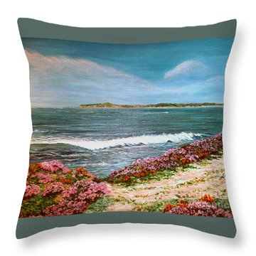 Spring At Half Moon Bay Throw Pillow
