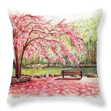 Spring At Lithia Park Throw Pillow
