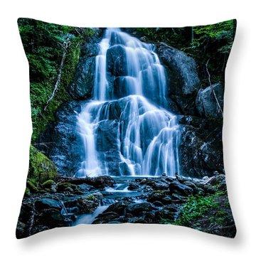 Spring At Moss Glen Falls Throw Pillow