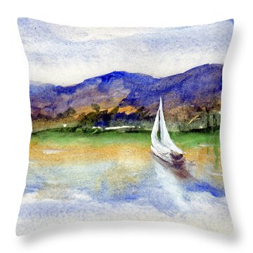 Spring At Our Island Throw Pillow by Randy Sprout