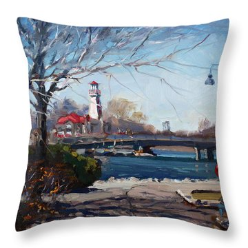Spring At Port Credit Throw Pillow
