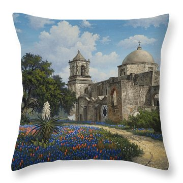 Throw Pillow featuring the painting Spring At San Jose by Kyle Wood