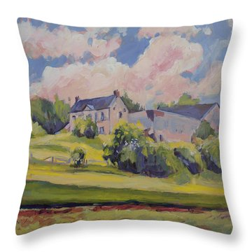 Spring At The Hoeve Zonneberg Maastricht Throw Pillow