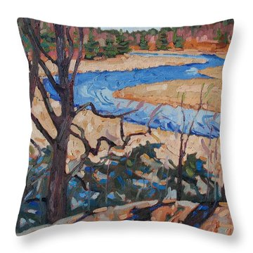 Spring At The Jones Throw Pillow by Phil Chadwick