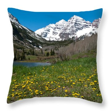 Spring At The Maroon Bells Throw Pillow