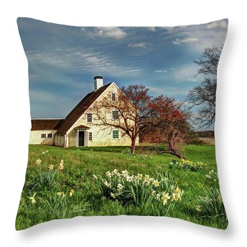 Spring At The Paine House Throw Pillow