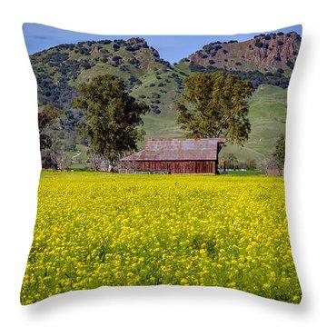 Spring Barn Throw Pillow