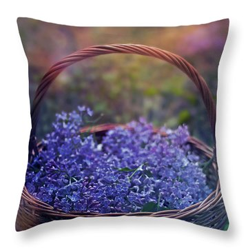 Spring Basket Throw Pillow