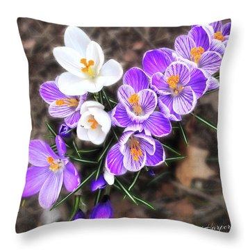 Spring Beauties Throw Pillow