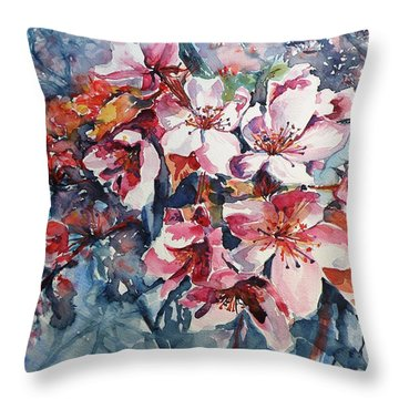 Throw Pillow featuring the painting Spring Beauty by Kovacs Anna Brigitta