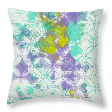 Throw Pillow featuring the mixed media Spring Begins by Lisa Noneman