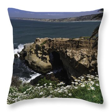 Spring Bloom At The Cove 2 Throw Pillow by Scott Cunningham