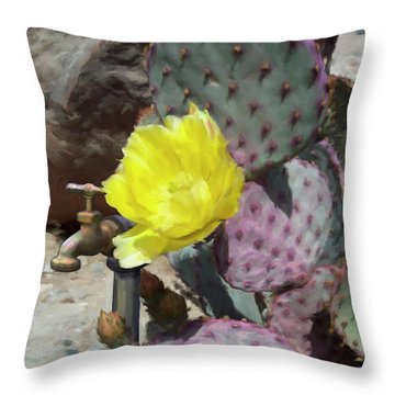 Spring Bloom Throw Pillow by Snake Jagger