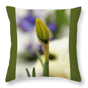 Throw Pillow featuring the photograph Spring Blooms In The Snow by Chris Berry