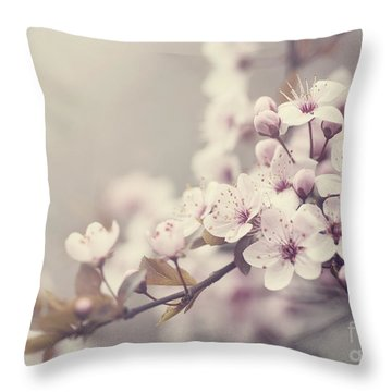 Spring Blossom Throw Pillow