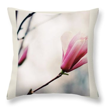 Throw Pillow featuring the photograph Spring Blossom Triptych by Jessica Jenney