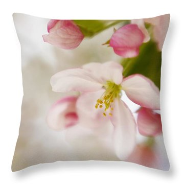 Spring Blossom Whisper Throw Pillow