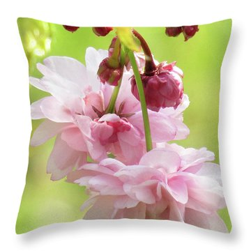 Spring Blossoms #8 Throw Pillow by Kim Tran