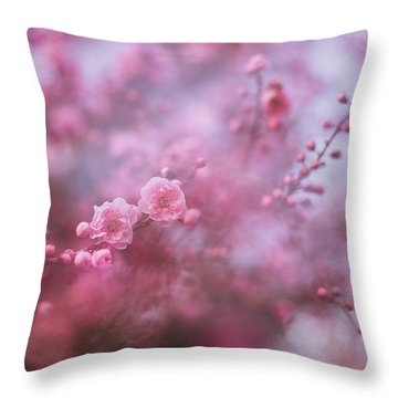 Spring Blossoms In Their Beauty Throw Pillow