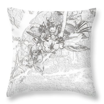Spring Blossums Throw Pillow by Craig Walters