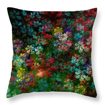 Spring Bouquet Throw Pillow by Adam Vance