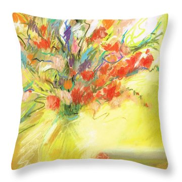Throw Pillow featuring the painting Spring Bouquet by Frances Marino