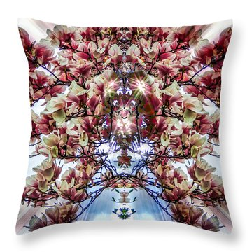 Spring Bouquet Throw Pillow by Glenn Feron