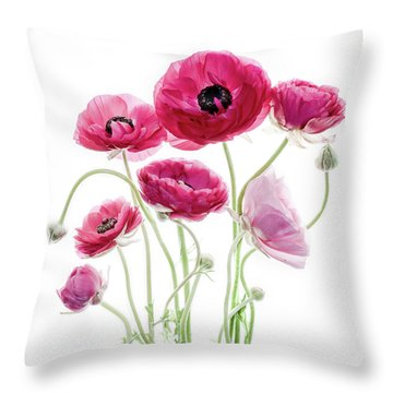 Spring Bouquet Throw Pillow by Rebecca Cozart