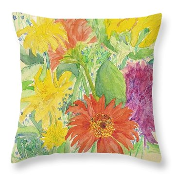 Throw Pillow featuring the painting Spring Bouquet  by Vicki  Housel