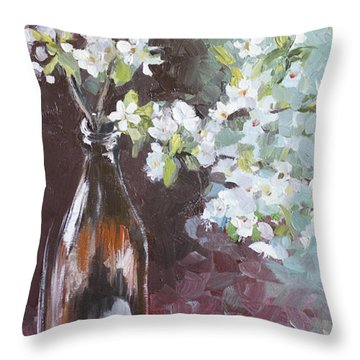 Spring Breakfast Throw Pillow