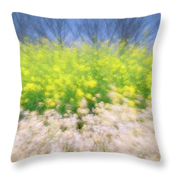 Throw Pillow featuring the photograph Spring Breeze by Awais Yaqub