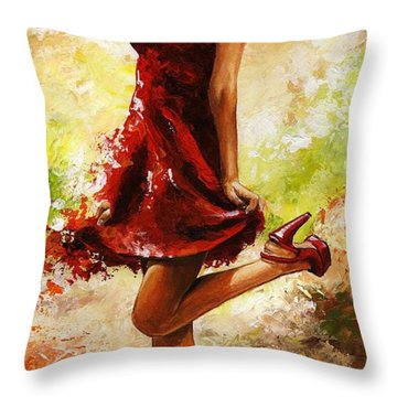 Spring Breeze Throw Pillow by Emerico Imre Toth