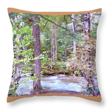 Spring Brook Throw Pillow