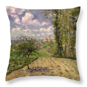 Spring Throw Pillow by Camille Pissarro
