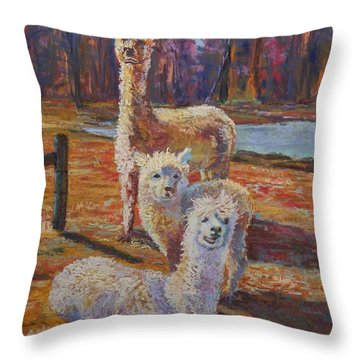 Spring Celebration - Mothers And Child Throw Pillow by Alicia Drakiotes