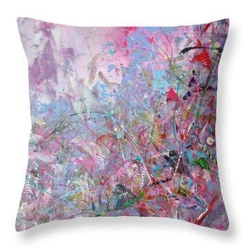 Spring Collage Throw Pillow