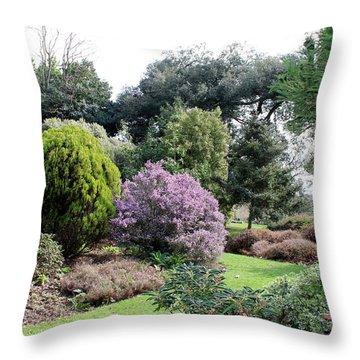 Spring Colour Throw Pillow by Katy Mei