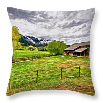 Spring Coming To Life Throw Pillow by James Steele