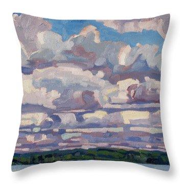 Spring Cumulus Throw Pillow