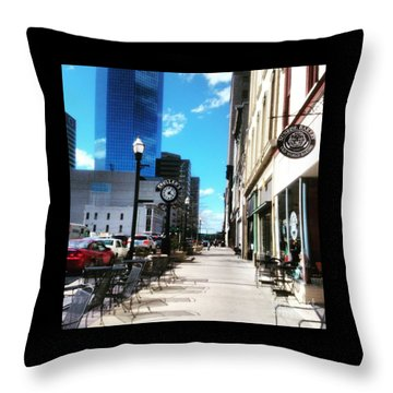 Spring Day In Downtown Lexington, Ky Throw Pillow