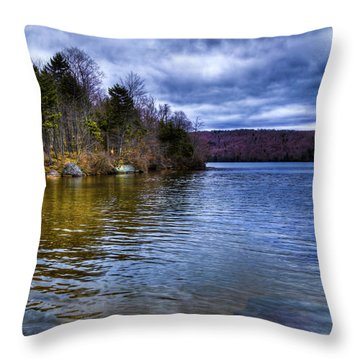 Spring Day On Limekiln Throw Pillow by David Patterson