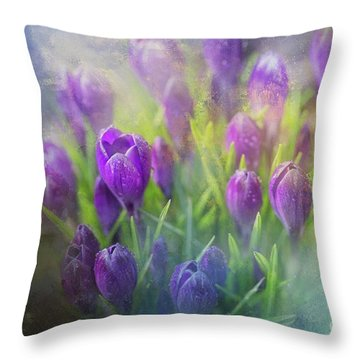 Spring Delight Throw Pillow by Eva Lechner