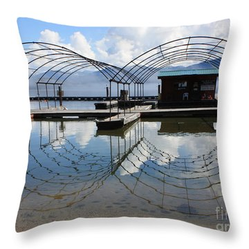 Spring Docks On Priest Lake Throw Pillow by Carol Groenen